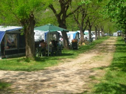 Information about different types of campsites in Arco, a meeting point for many sport fans